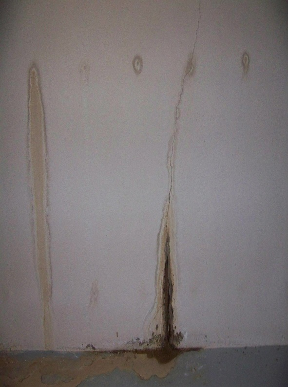 leaky basement wall crack